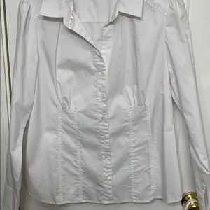 Dalia Collection White Button Down Long Sleeve